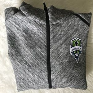 Adidas Seattle Sounders MLS Walk Out Hoodie L NWT